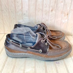 Sperry Top Sider Men 8 Boat Shoe Brown Leather